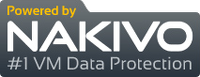 Logo Powered by Nakivo con leyenda: #1 VM Data Protection